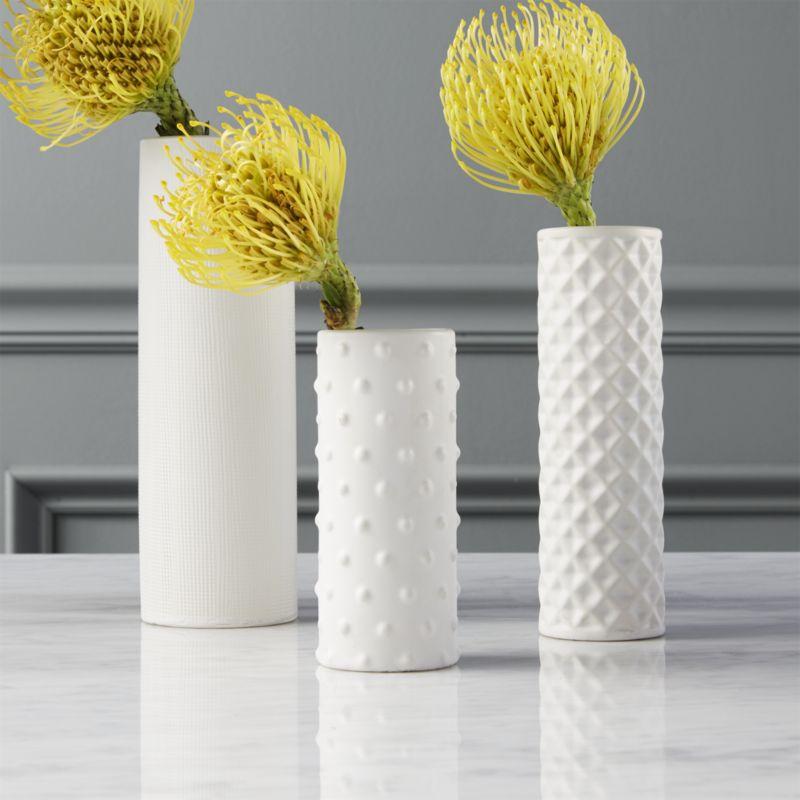 3-piece hat trick vase set