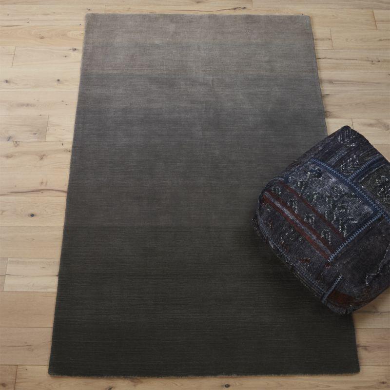 ombre grey rug 5'x8'