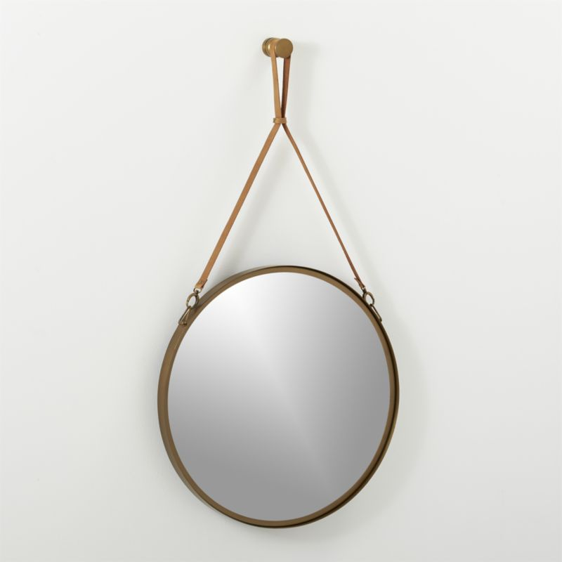"""victor leather 24"""" mirror"""