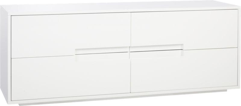 latitude white low dresser