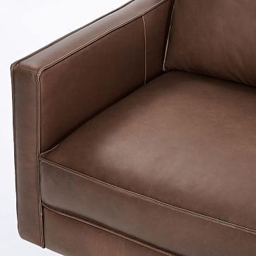 Superb Axel 89 Sofa Aspen Leather Carob Metal By West Elm Havenly Theyellowbook Wood Chair Design Ideas Theyellowbookinfo