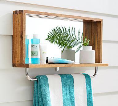 Outdoor Shower Mirror Shelf
