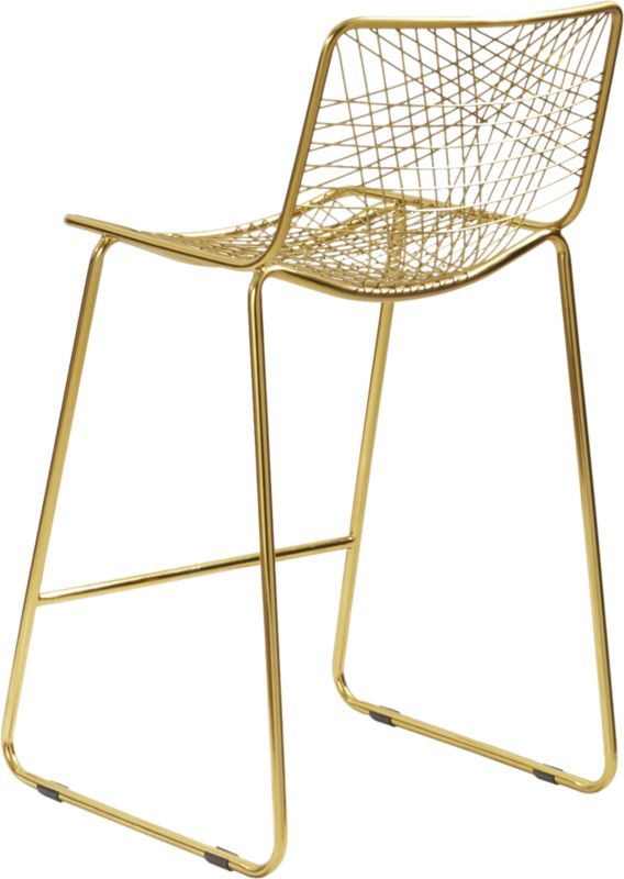 """alpha brass 24"""" counter stool"""