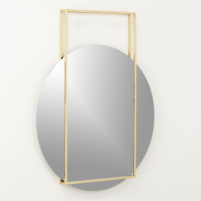 Pendulum Gold Wall Mirror