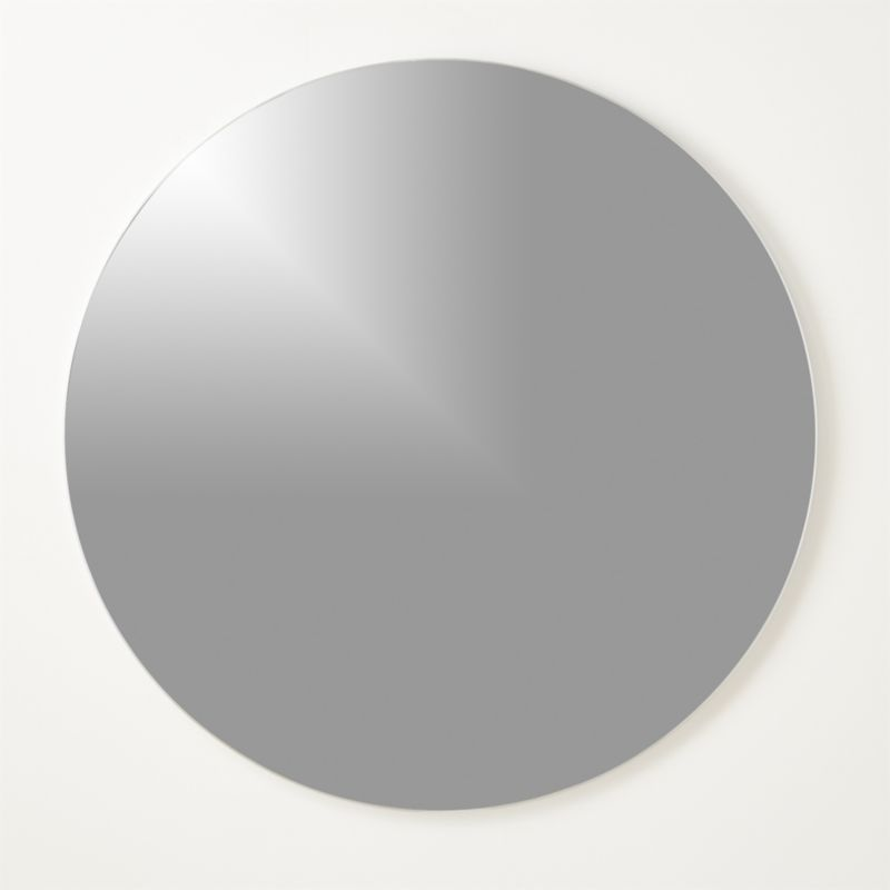 """""""Infinity Silver Round Wall Mirror 48"""""""""""""""