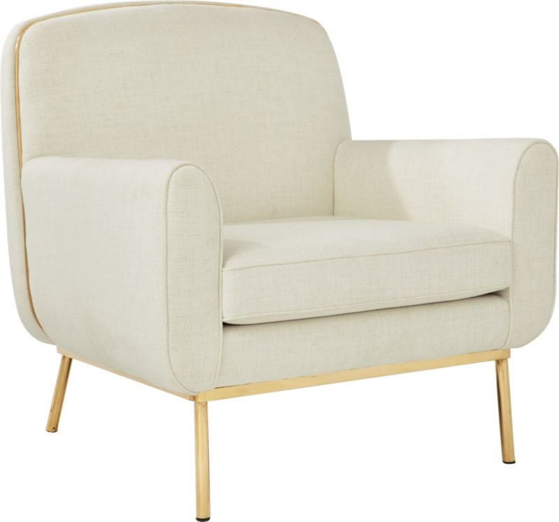 Halo White Snow Armchair