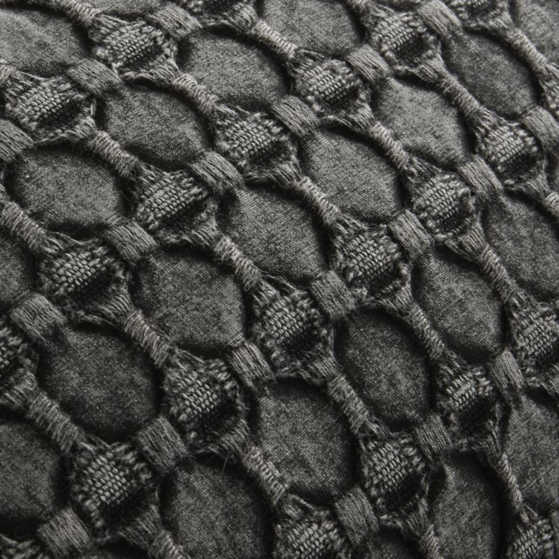 "20"" Black Stonewash Pillow"