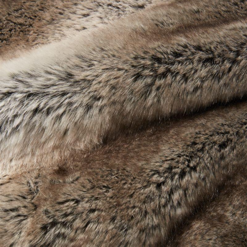 Light Grey Faux Fur Throw