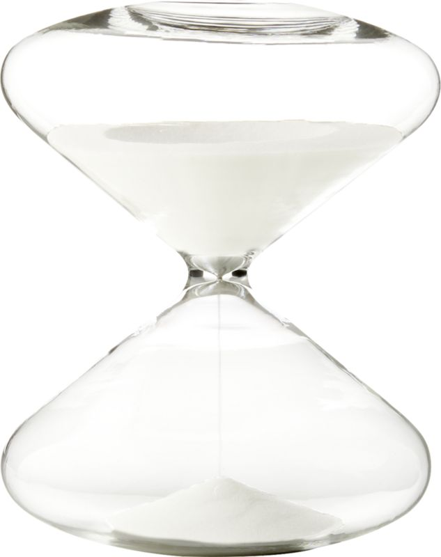 White Sand Hour Glass