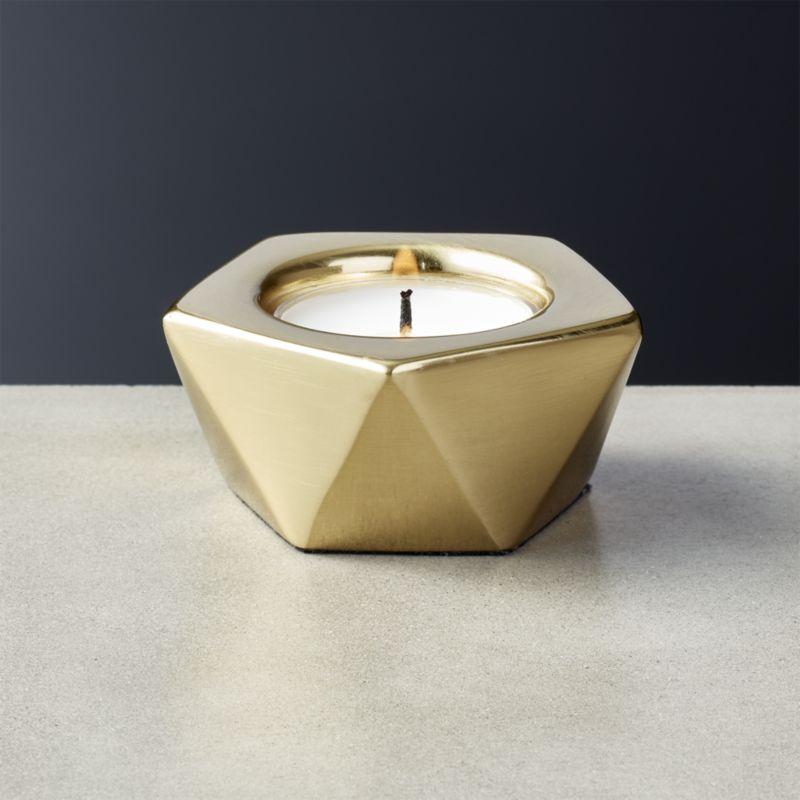 Gami Brass Tea Light Candle Holder
