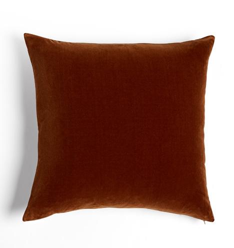 Italian Velvet Pillow Cover - Walnut