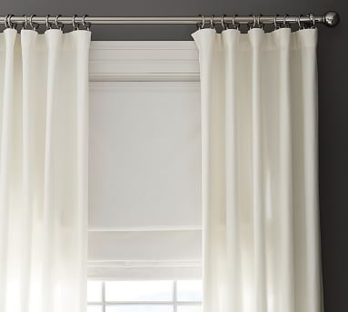 "Emery Linen/Cotton Cordless Roman Shade, 26 x 64"", Oatmeal"
