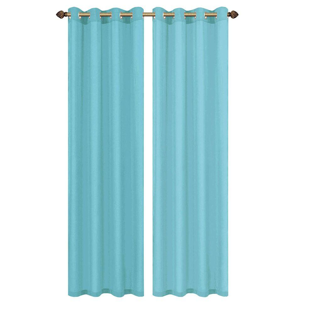 light blue grommet curtains