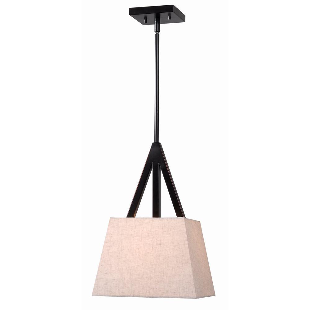 kenroy home intersect 1light bronze pendant