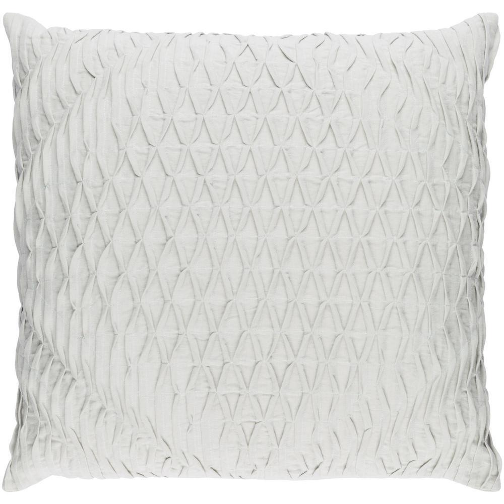 Arbutus Poly Euro Pillow, Light Gray