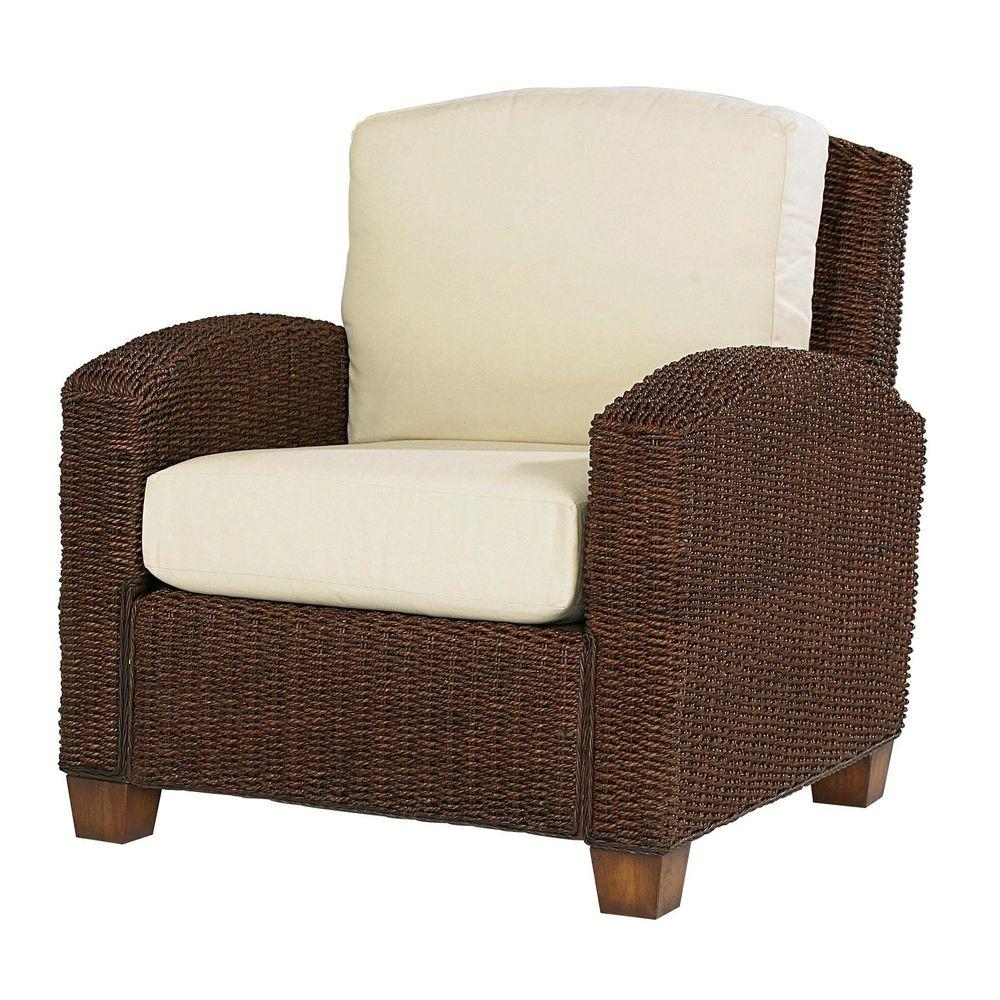 Cabana Banana Cocoa Brown Leave Arm Chair Quick View Home Depot