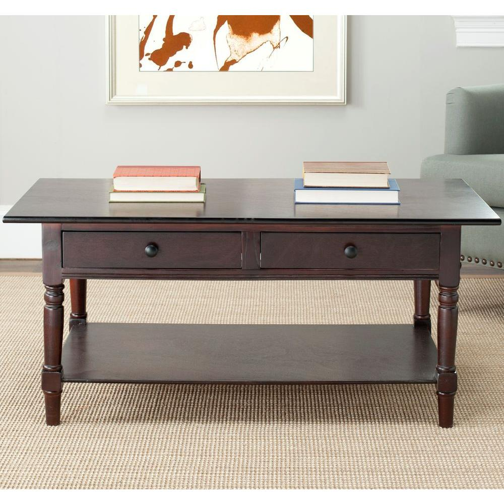 Grand framed rectangular coffee table weathered brown oak by boris medium oak stain storage coffee table medium oak stain finish geotapseo Image collections