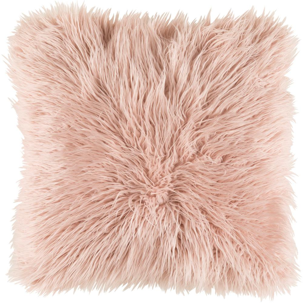 """Camberwell Poly Euro Pillow, Pink 18""""x18"""""""
