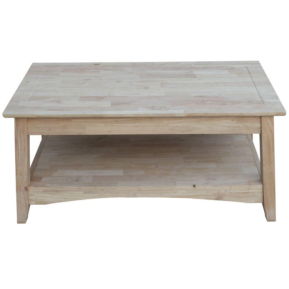 Bombay Unfinished Lift Top Coffee Table Home Depot