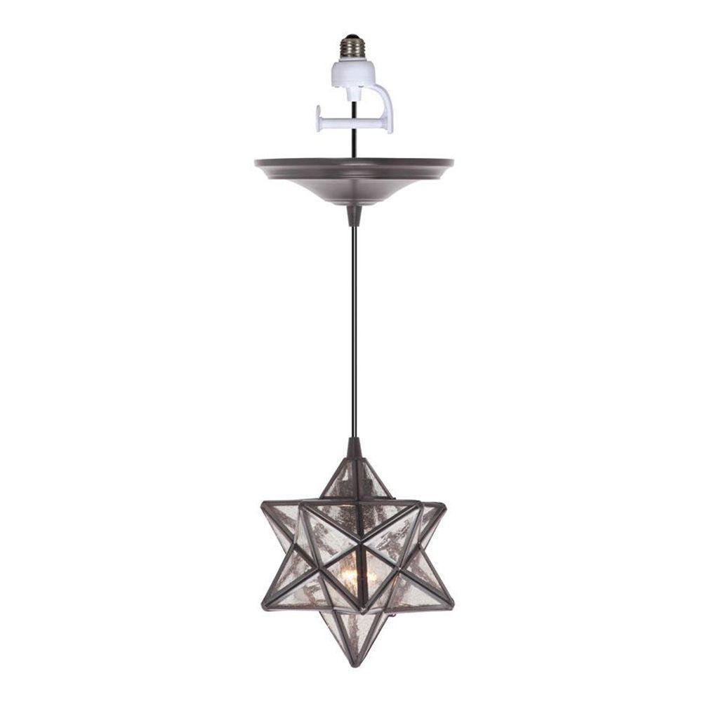 home decorators collection moravian 1light bronze pendant conversion kit