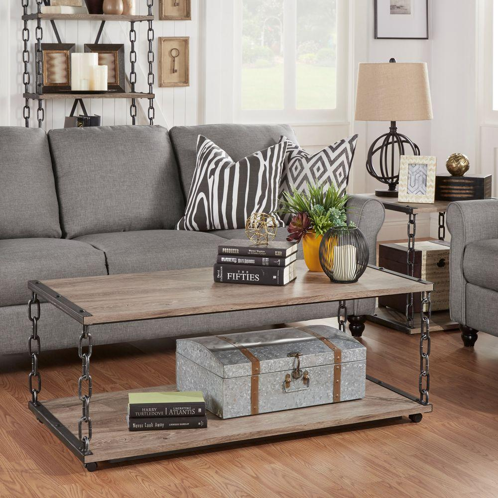 Kailas dark oak built in storage coffee table by home depot philco light oak coffee table geotapseo Choice Image