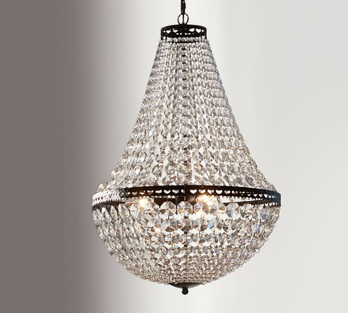 Mia Faceted-Crystal Chandelier - SMALL