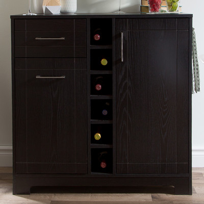 Modesto Brown Modern Dry Bar And Wine Cabinet... by Wholesale ...