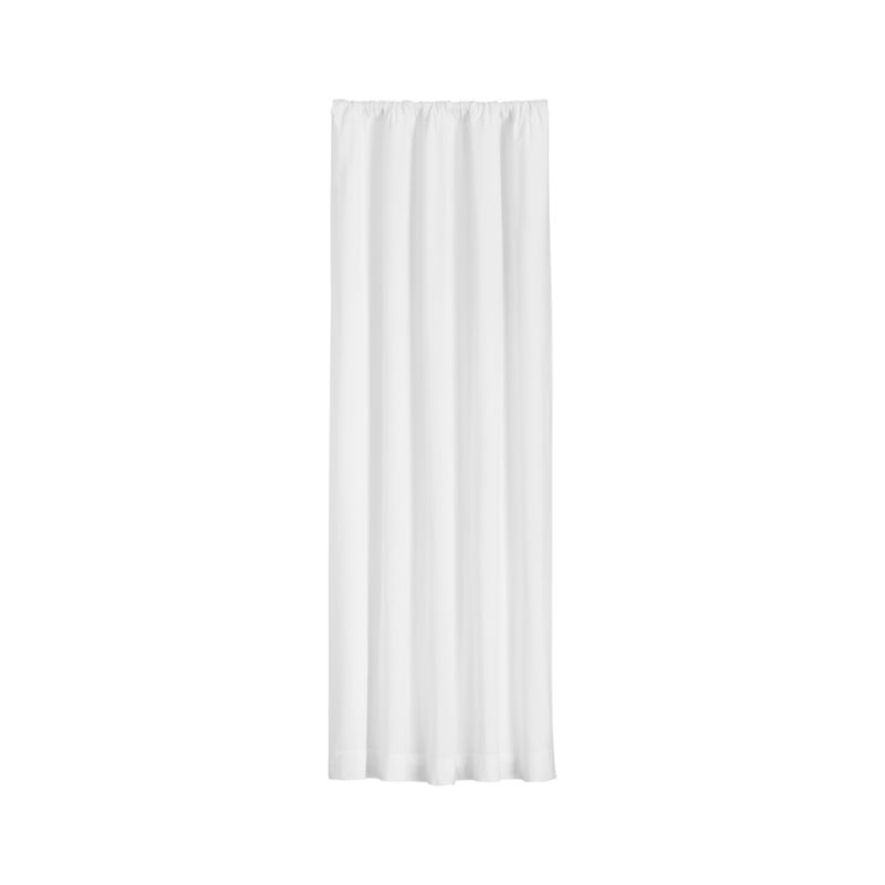 """Wallace 52""""x96"""" White Curtain Panel"""