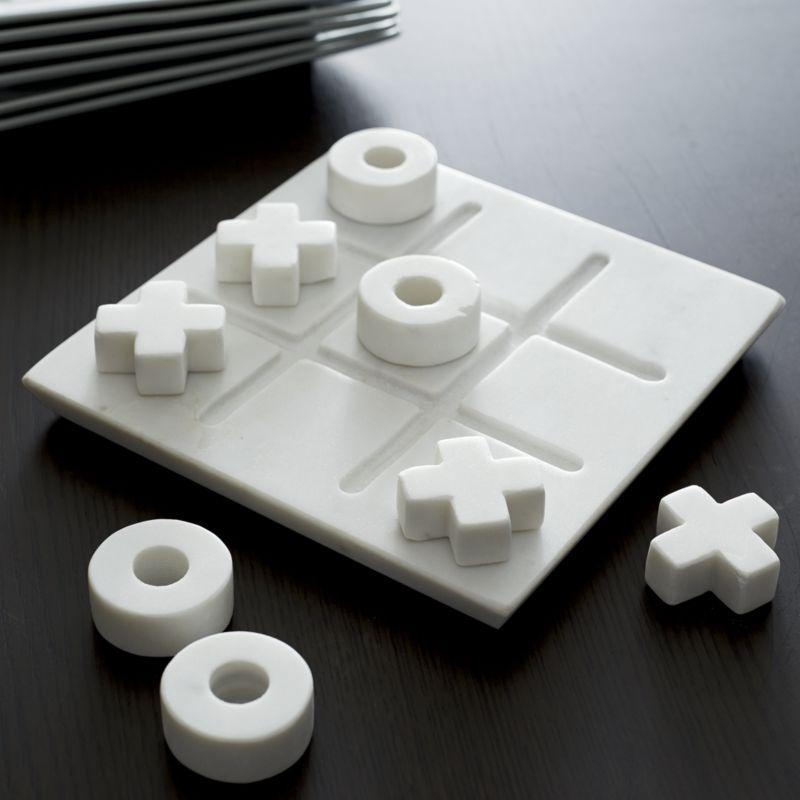 Marble Tic-Tac-Toe Game Set