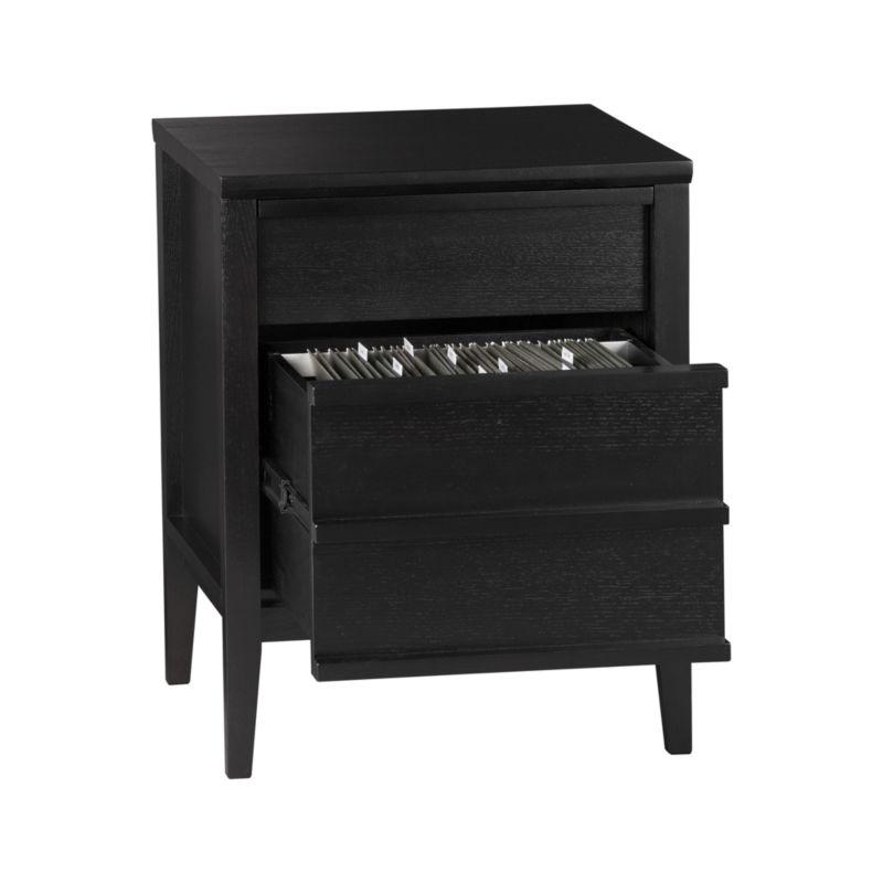 Spotlight Ebony Filing Cabinet