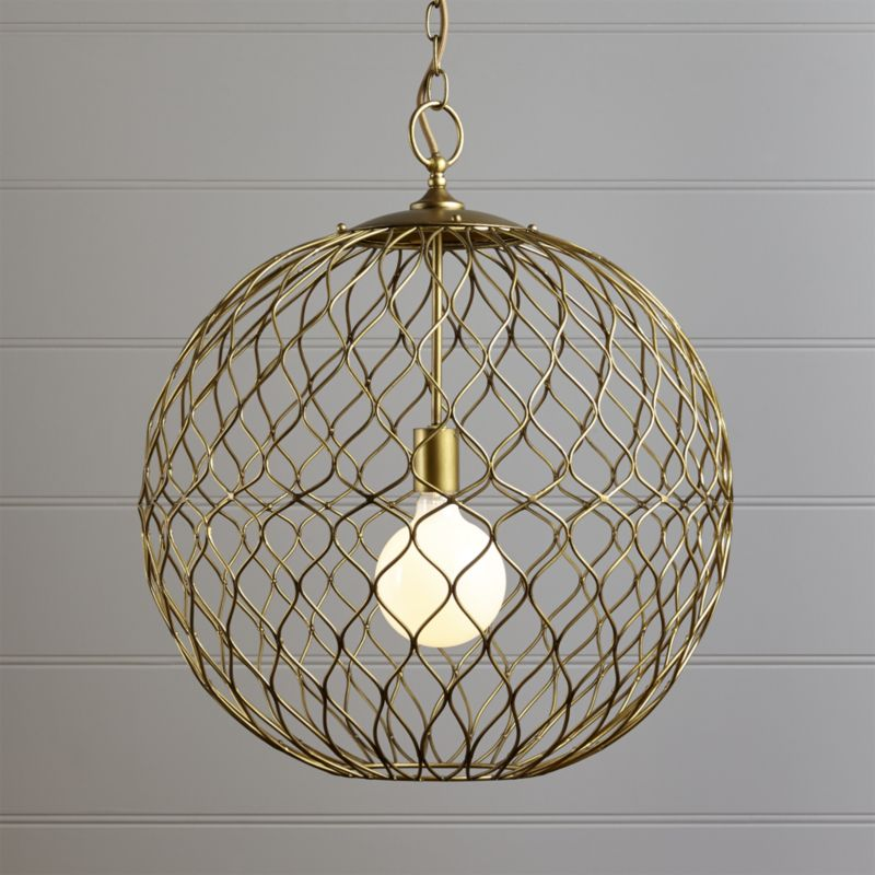 "Hoyne 21.5"" Brass Pendant"
