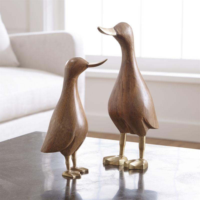 Small Wood Mallard Duck