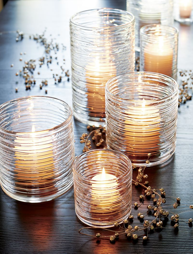 Spin Glass Extra Large Hurricane Candle Holder/Vase.