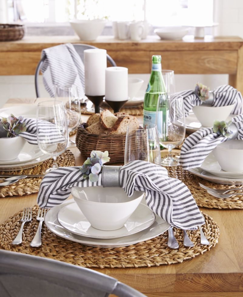 Marin White 20-Piece Dinnerware Set