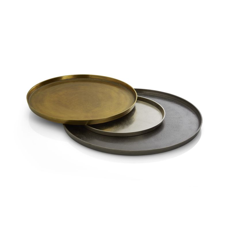 Element Metal Antiqued Brass Tray