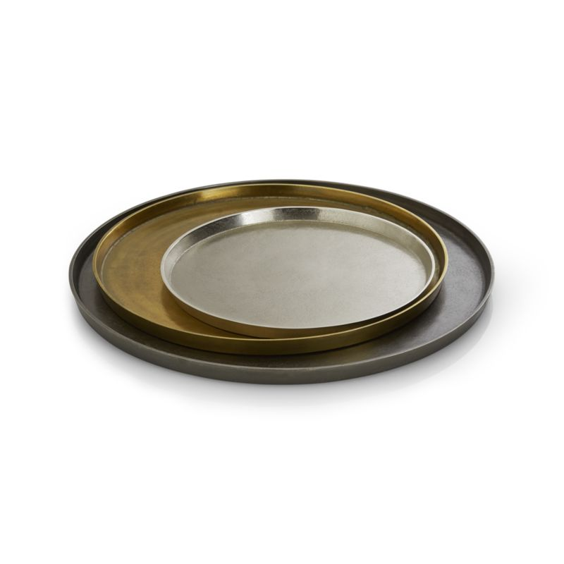 Element Metal Silver Tray