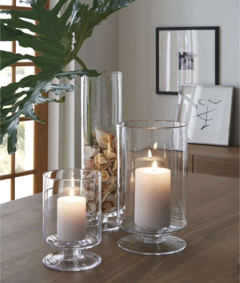 London Small Clear Hurricane Candle Holder
