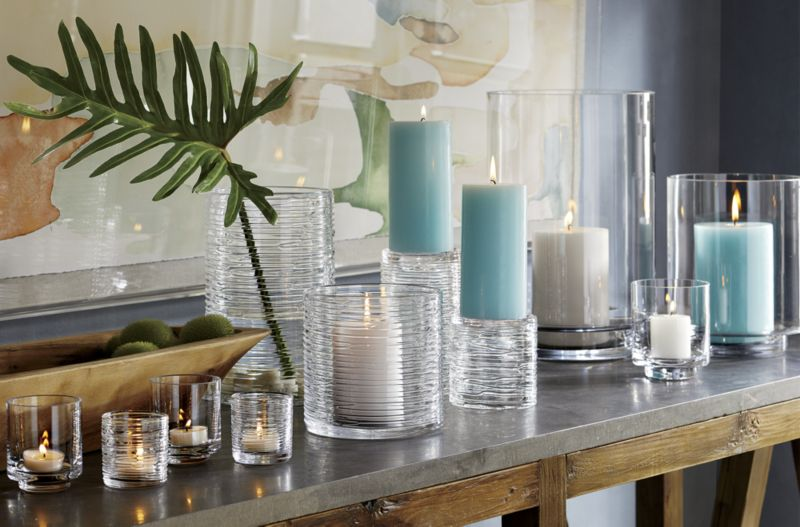 Taylor Large Glass Hurricane Candle Holder
