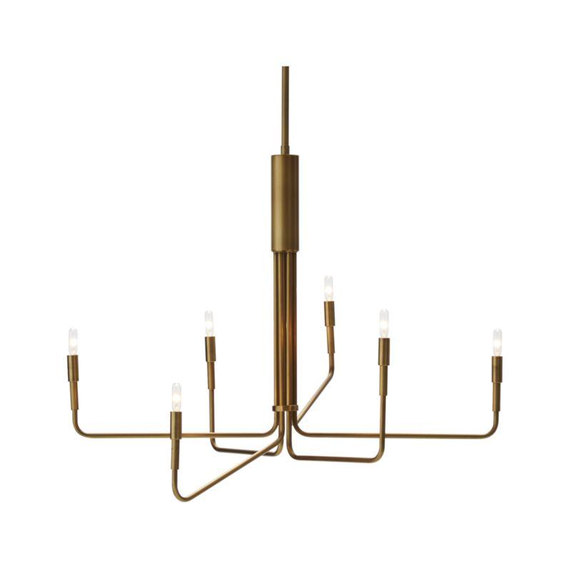 Clive 6-Arm Brass Chandelier