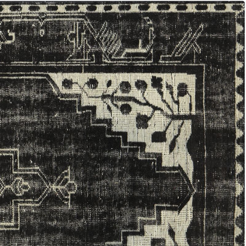 Anice Black Hand Knotted Oriental 3'x5' Rug