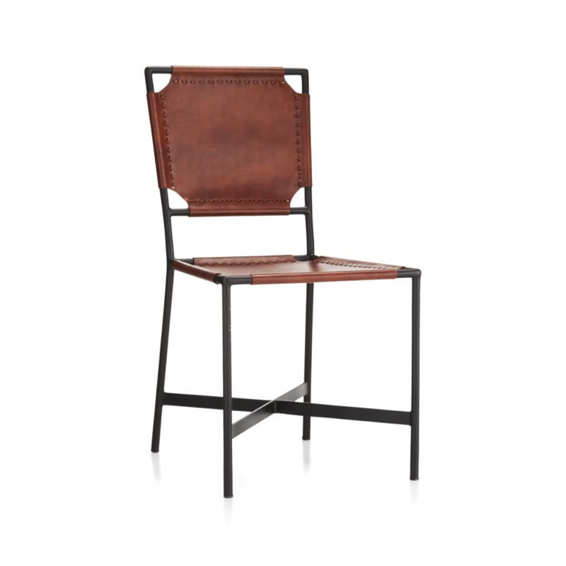 Laredo Brown Leather Dining Chair