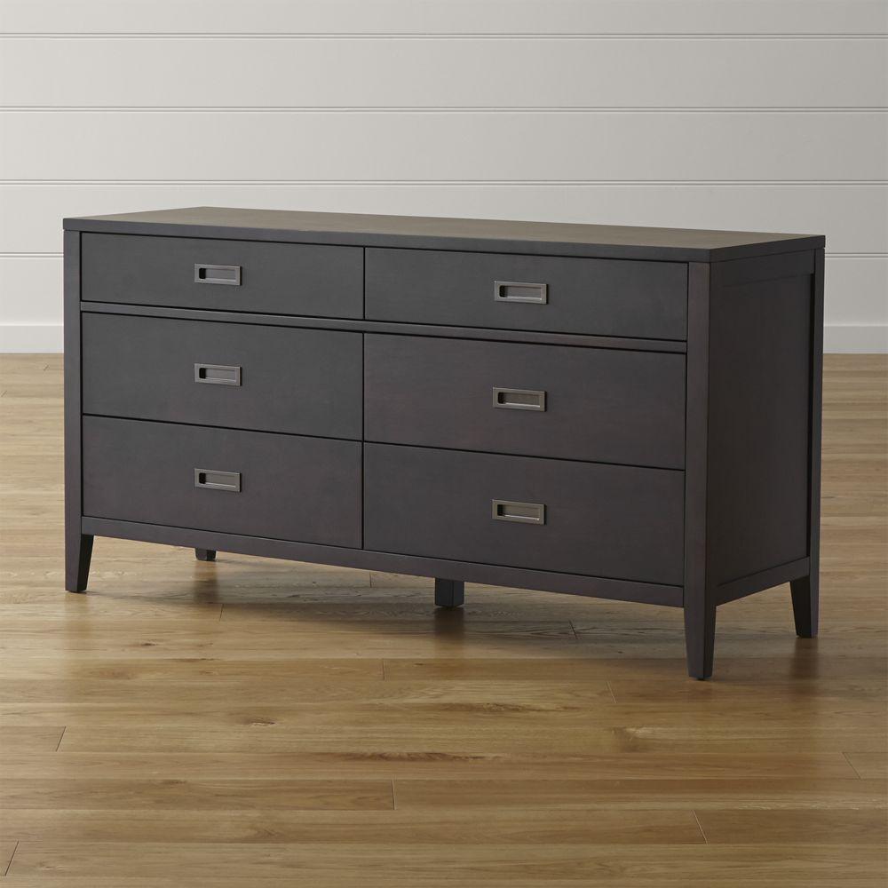Arch Charcoal 6 Drawer Dresser