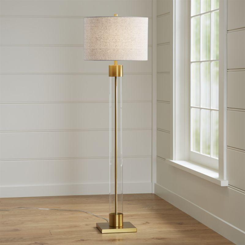 Avenue Brass Floor Lamp
