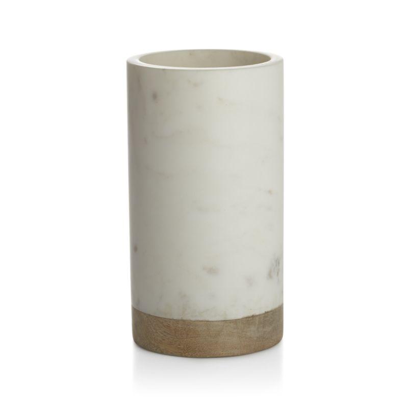 Wood Marble Wine Cooler