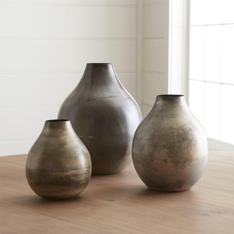 Bringham Small Metal Vase