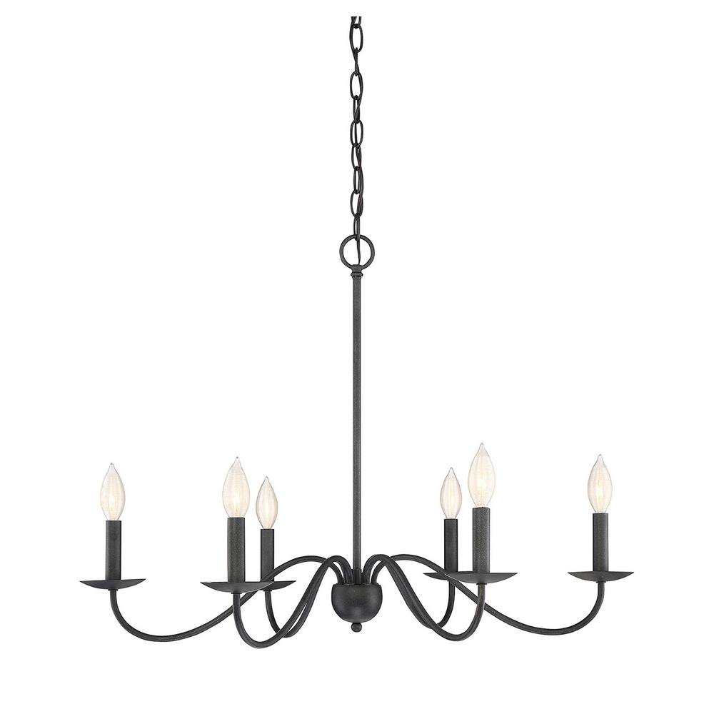Filament Design 6-Light Aged Iron Chandelier