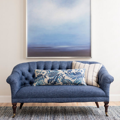 Jewel Blue Jute Woven Rug - 5' x 8'