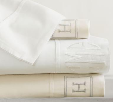 PB Essential 300-Thread-Count Sheet Set, King, White