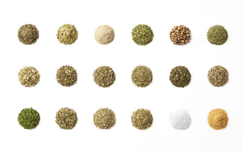18-Jar Acacia Wood Spice Rack