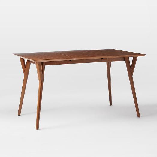 "Mid-Century Expandable Dining Table - Medium (60""-80"")- Walnut"